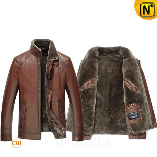 Multifunctional Coats | CWMALLS® Canberra 2 in 1 Shearling Coat CW808016 [Patented Products]