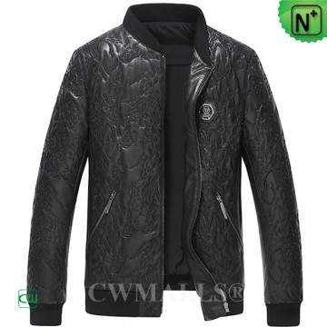 Men Leather Jackets | CWMALLS® Kaliningrad Embroidered Leather Jacket CW808036 [Custom Made]
