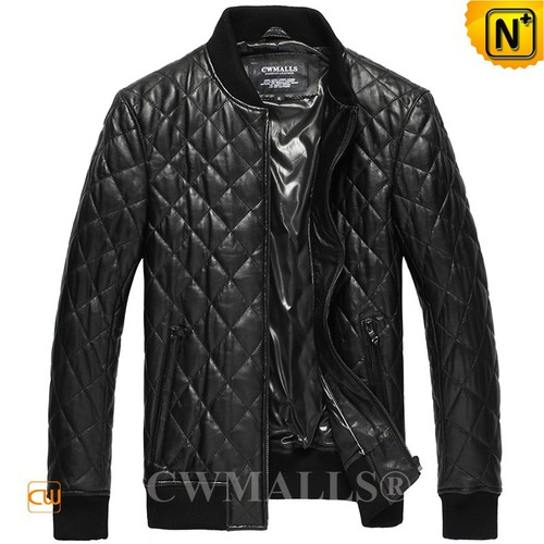 Men Leather Jackets | CWMALLS® Bern Quilted Leather Biker Jacket CW807026 [Patented Design]