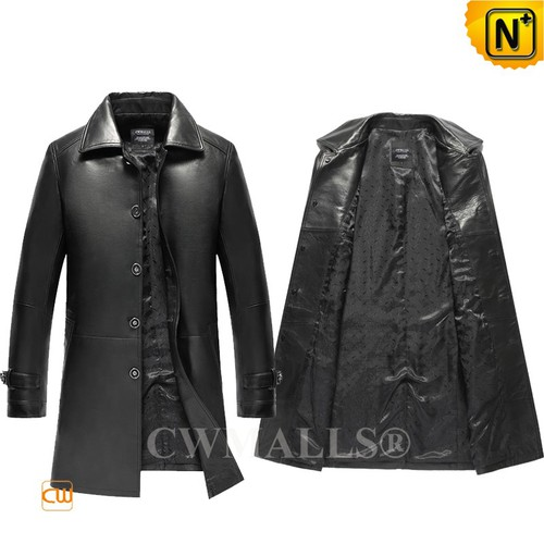 Men Leather Coats | CWMALLS® London Men Leather Trench Coat CW808026 [Custom Made, Patented Design]