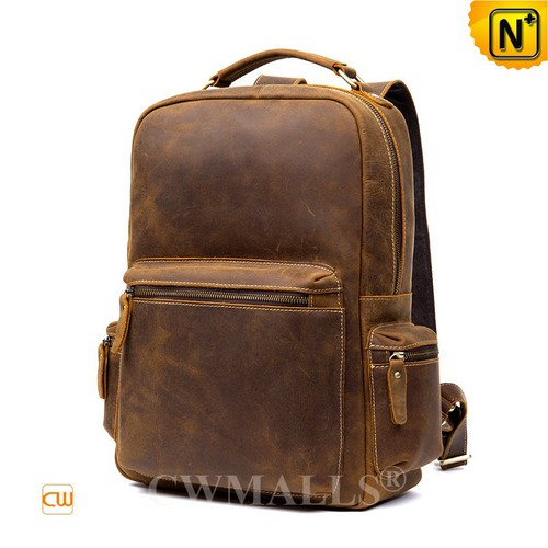CWMALLS® New York Vintage Leather Travel Backpacks CW908030 [2018 FIFA World Cup, Vacation Series]