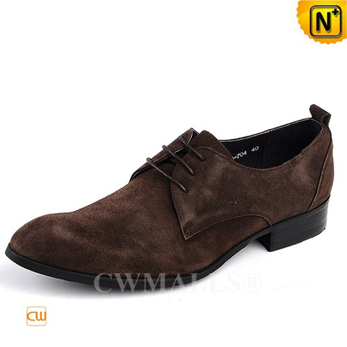 Men Leather Shoes | CWMALLS® New York Nubuck Leather Shoes CW708132 [Custom Made, Patented Design]