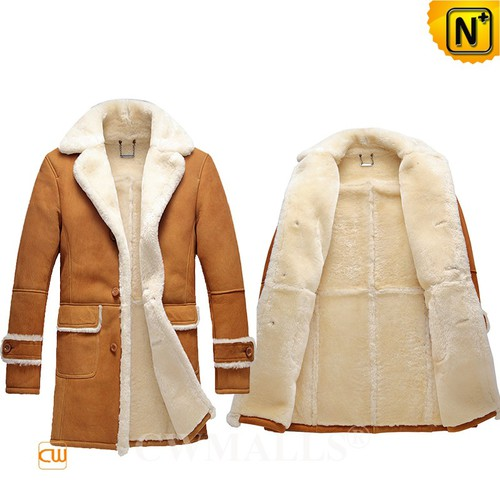 Prime Day 2018 | CWMALLS® Canberra Shearling Sheepskin Trench Coat CW808148 [Custom Made]