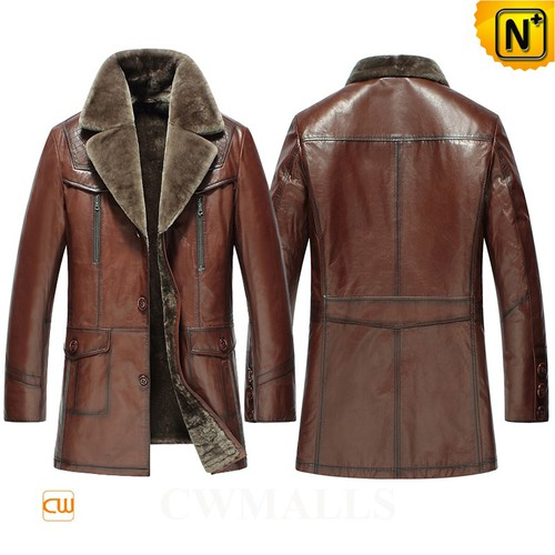 Prime Day 2018 | CWMALLS® Canberra 2 in 1 Shearling Leather Coat CW808088 [Custom Made]