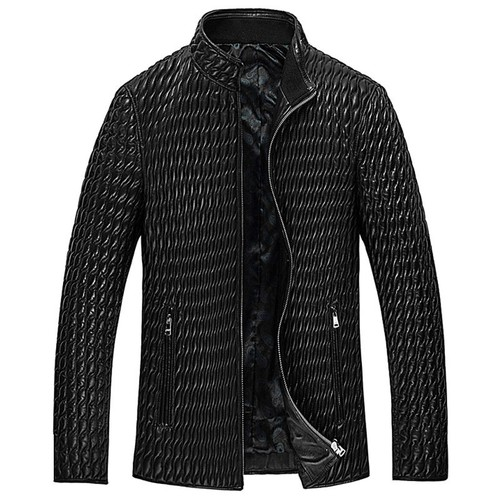 Prime Day 2018 | CWMALLS® London Men Quilted Leather Jacket CW850009 [Custom Made, Patented Design]