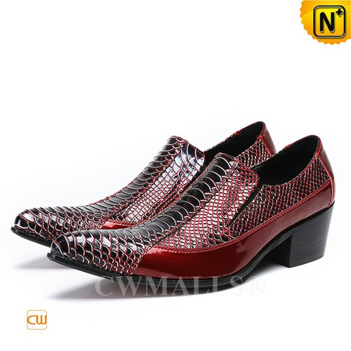 Men Leather Shoes | CWMALLS® Los Angeles Printed Leather Shoes CW708200 [Patented Design]