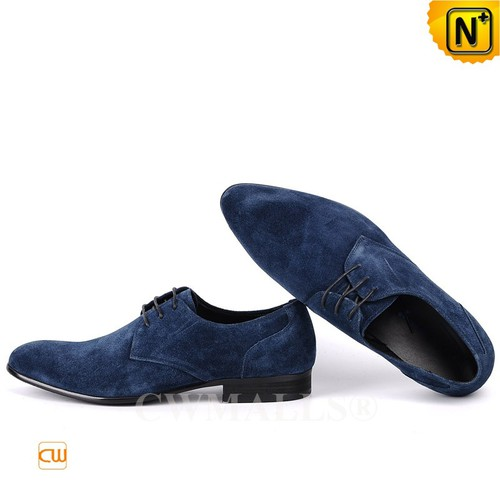 Patented Leather Shoes | CWMALLS® London Lace-up Nubuck Leather Oxfords CW708131 [Patented Products