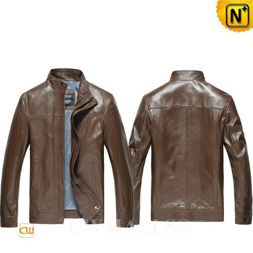 Back To School 2018 | CWMALLS® Boston Slim Fit Leather Bomber Jackets CW807018 [Custom Made]