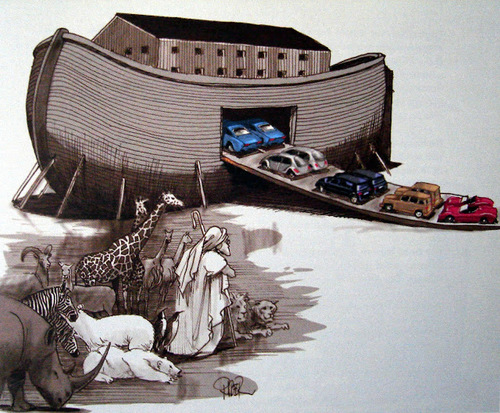 Noah's Arch, December 4, 2008  - Illustration by Riber Hansson
