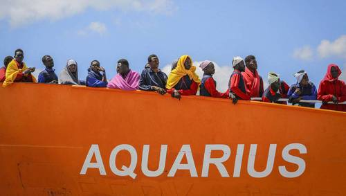 Migrants de l'Aquarius : accord entre quatre pays de l'UE.