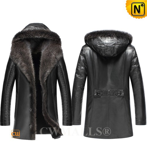 Christmas Gifts | CWMALLS® Chicago Hooded Fur Trimmed Shearling Coat CW836065 [Global Free Shipping