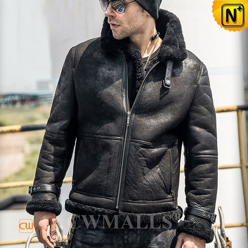 Christmas Gifts | CWMALLS® New York Custom Sheepskin Bomber Jacket CW808308 [Custom Made]