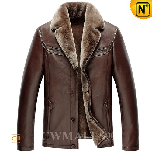 Patented Multifunctional Jackets | CWMALLS® Moscow Shearling Leather Jacket CW890008 [Custom Made]