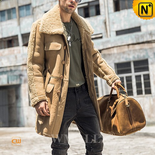 Christmas Gifts | CWMALLS® Chicago Men Sheepskin Trench Coat CW808356 [Custom Made]