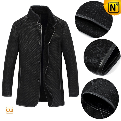 Christmas Gifts | CWMALLS® New York Men Embossed Sheepskin Jacket CW877011 [Custom Made]