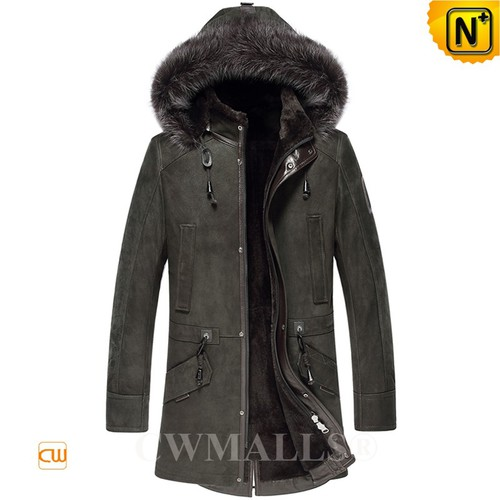 Christmas Gifts | CWMALLS® Chicago Men Hooded Sheepskin Coat CW807506 [Custom Made]