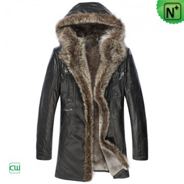 Plus Size | CWMALLS® Edmonton Fur Trimmed Shearling Leather Coat CW877158 [Custom Made]