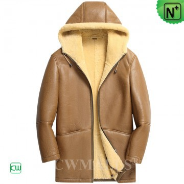 Black Friday 2018 | CWMALLS® Detroit Mens Hooded Sheepskin Coat CW808376 [Custom Made]