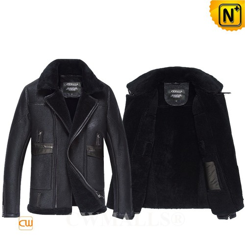 Christmas Gifts | CWMALLS® Bergen Mens Sheepskin Bomber Jacket CW807646 [Custom Made]