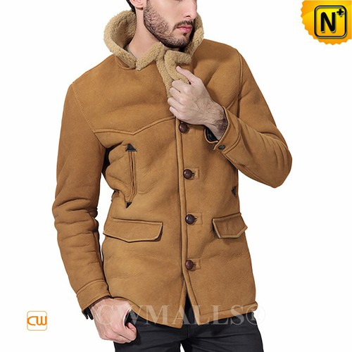 Christmas Gifts | CWMALLS® London Mens Vintage Sheepskin Coat CW807156 [Custom Made]