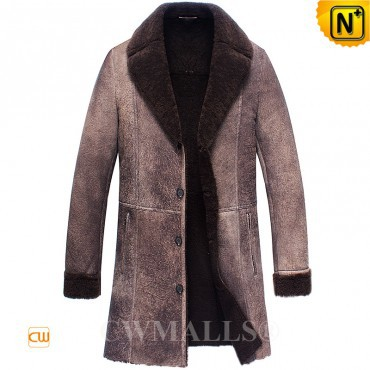 Christmas Gifts | CWMALLS® New York Vintage Sheepskin Trench Coat CW836068 [Custom Made]