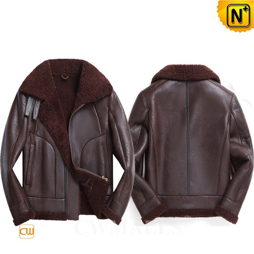 Christmas Gifts | CWMALLS® Chicago Men Sheepskin B-3 Bomber Jacket CW808386 [Custom Made]
