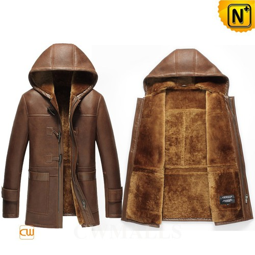 Christmas Gifts | CWMALLS® New York Winter Hooded Sheepskin Coat CW855561 [Custom Made]
