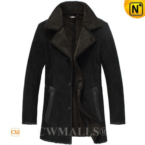 Christmas Gifts | CWMALLS® Amsterdam Mens Black Sheepskin Coat CW807132 [Global Free Shipping]