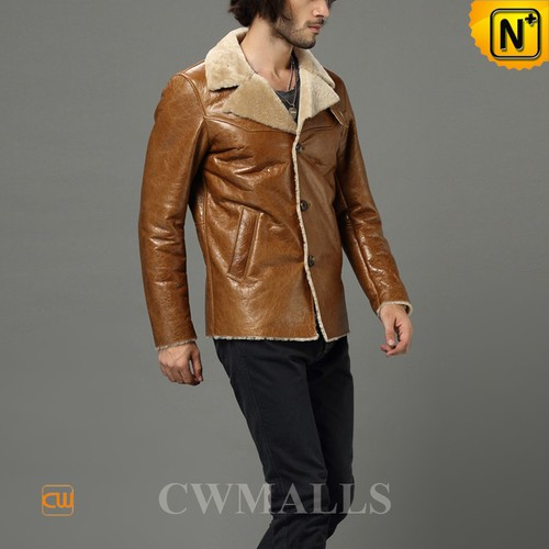 Christmas Gifts | CWMALLS® Chicago Mens Sheepskin Winter Jacket CW858348 [Genuine Sheepskin]
