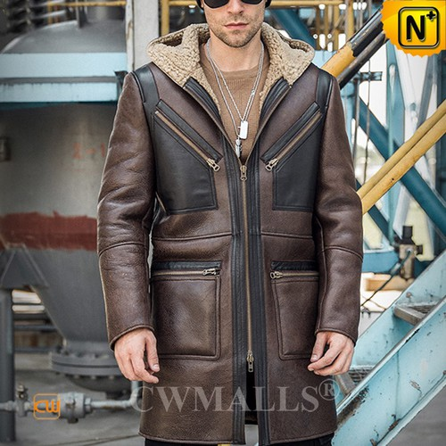 Christmas Gifts | CWMALLS® Warsaw Mens Retro Sheepskin Coat CW808378 [Global Free Shipping]