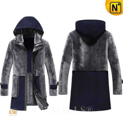 Christmas Gifts | CWMALLS® Jersey City Mens Hooded Shearling Coat CW816117 [Global Free Shipping]