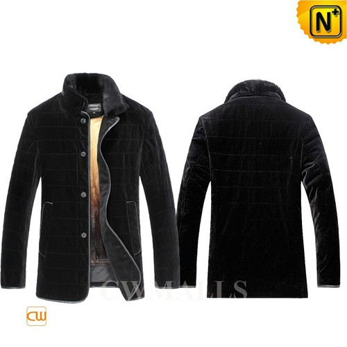 Christmas Gifts | CWMALLS® Boston Mens Mink Fur Shearling Coat CW857326 [Custom Made]