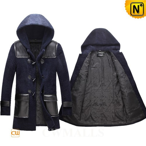 Christmas Gifts | CWMALLS® Minneapolis Mens Hooded Shearling Coat CW855570 [Global Free Shipping]