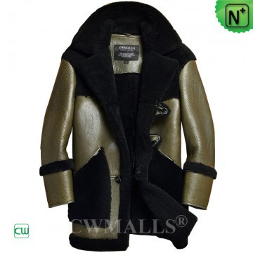 Christmas Gifts | CWMALLS® Jersey City Mens Shearling Coat CW808566 [Custom Made]