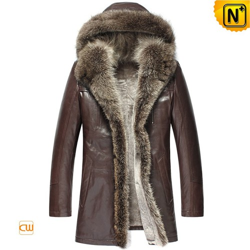 Multifunctional Coats | CWMALLS® Boston Hooded Fur Trim Shearling Coat CW877159