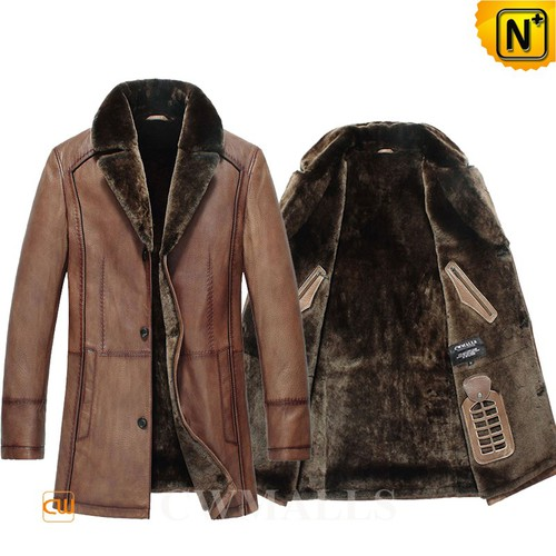 Multifunctional Coats | CWMALLS® Chicago Mens Shearling Leather Coat CW857019 [Custom Made]