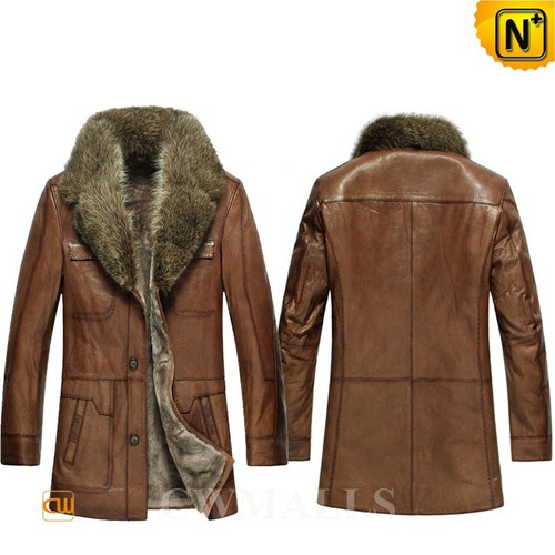Fur Trim Coat | CWMALLS® Montreal Shearling Coat with Fur Collar CW858031 [Custom Made]