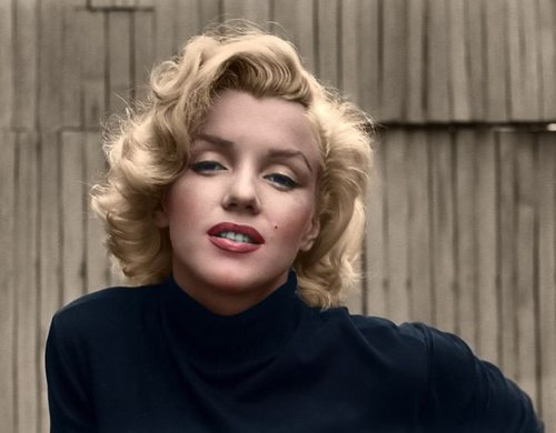 Photo Colorisée de Marylin Monroe