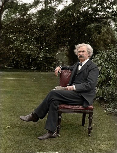Photo Colorisée de Mark Twain, 1900