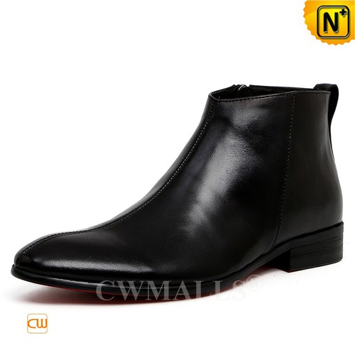 Men Leather Shoes | CWMALLS® Los Angeles Mens Leather Ankle Boots CW719001 [Global Free Shipping]