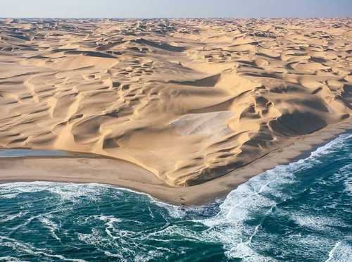 IMAGE: Desert meets the sea in Namibia