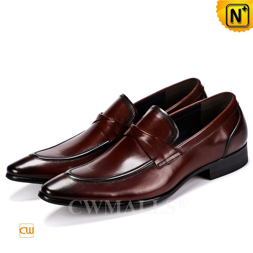 Men Leather Shoes | CWMALLS® New York Mens Leather Loafers CW719021 [Global Free Shipping]