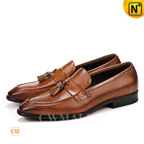 Men Leather Shoes | CWMALLS® Los Angeles Men Tassel Leather Loafers CW719022 [Global Free Shipping]