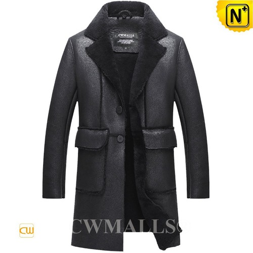 Men Sheepskin Coats | CWMALLS® Detroit Mens Winter Sheepskin Coat CW807661 [Custom Made]