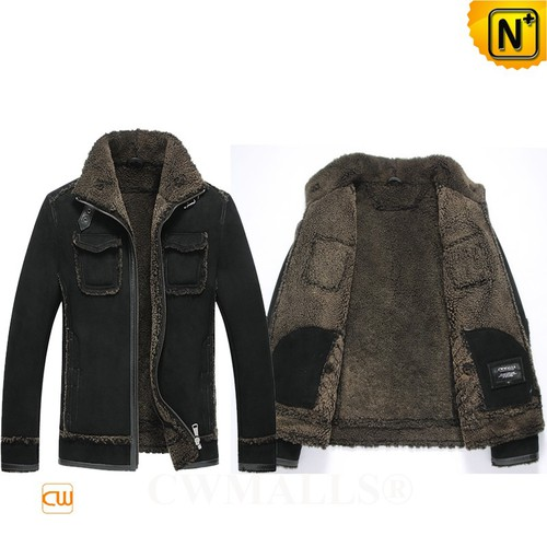 Men Sheepskin Jackets | CWMALLS® Glasgow Mens Sheepskin Bomber Jacket CW807643 [Custom Made]