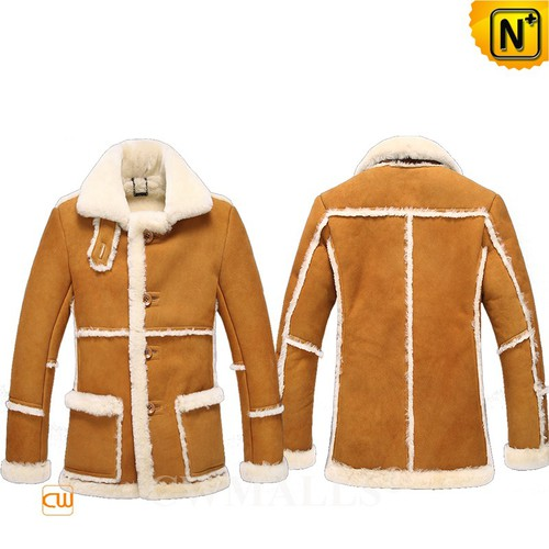 Men Winter Coats | CWMALLS® New York Mens Rancher Sheepskin Coat CW808208 [Custom Made]