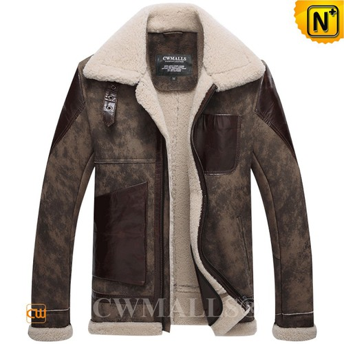 Men Aviator Jacket | CWMALLS® Boston Men Vintage Sheepskin Bomber Jacket CW807653 [Custom Made]