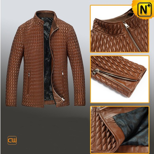 Custom Leather Jackets | CWMALLS® Houston Men Quilted Leather Jacket CW850009 [Personal Tailor]
