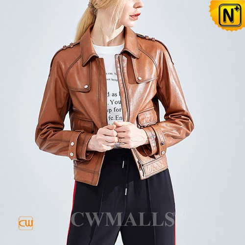 Leather Jackets & Leather Backpack | Miami Custom Women Leather Biker Jacket CW619109 | CWMALLS®