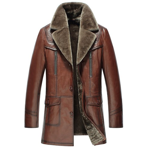 Father's Day Gifts | Custom Men Shearling Leather Coat CW858106 | CWMALLS.COM